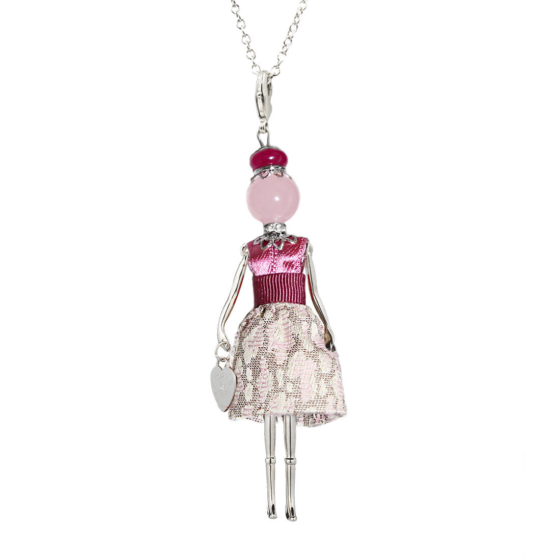 Gisel Bois De Roses Blyte Silver Necklace - High Street Jewelry