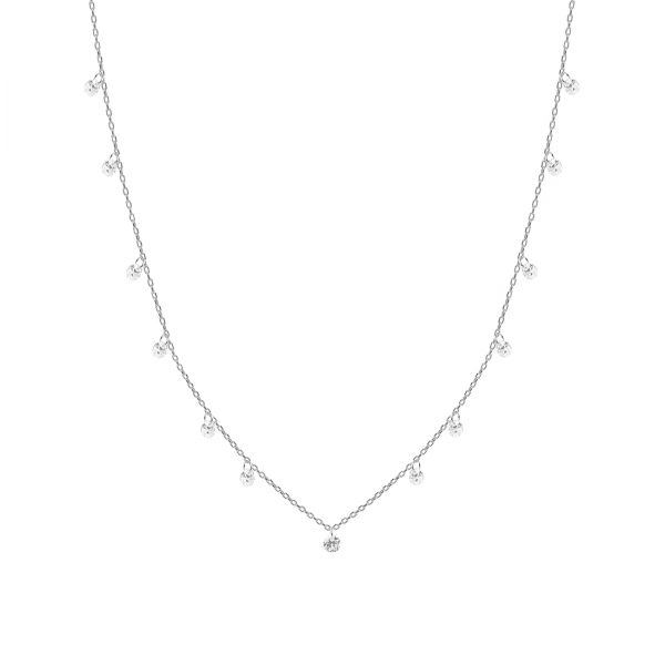 Twinkle Drops Silver Necklace - High Street Jewelry