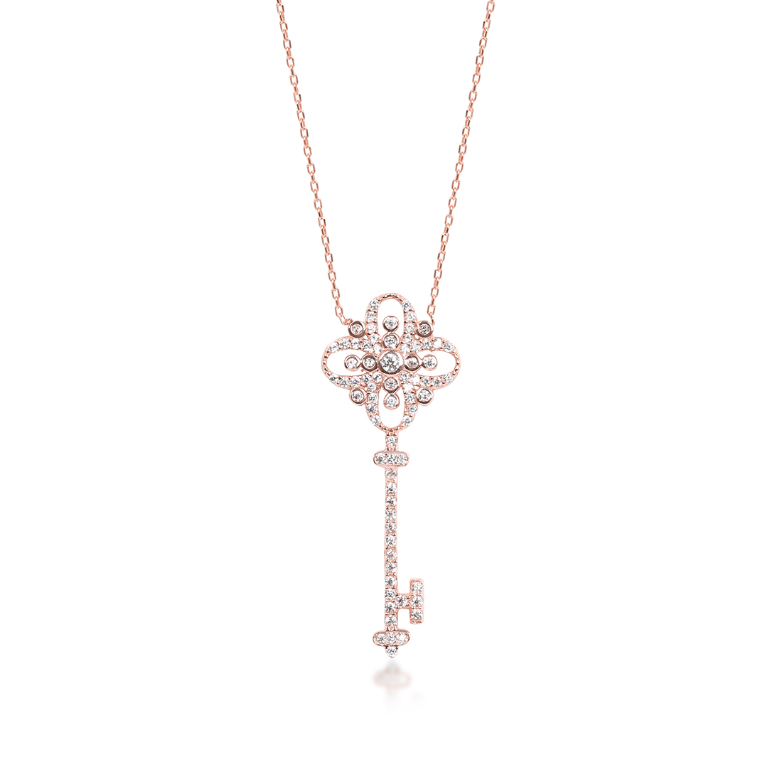 Key of Life Rose Necklace - High Street Jewelry