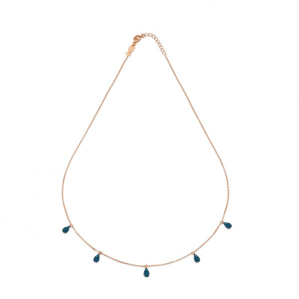 Droplets Rose Necklace - High Street Jewelry