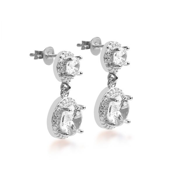 Eden Silver Drop Earring - High Street Jewelry