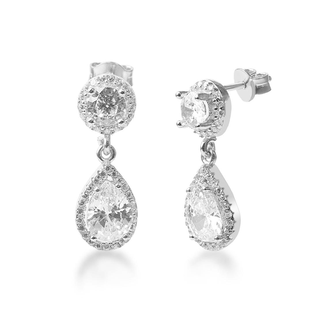 Amara Silver Drop Earring - High Street Jewelry
