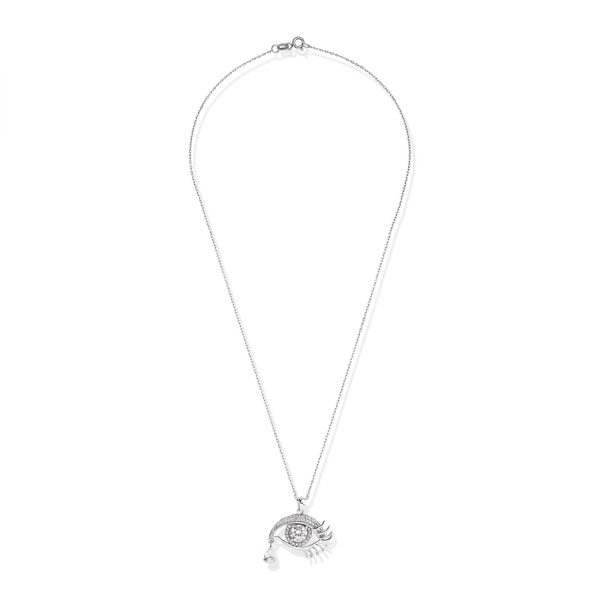 Classic Eyed Silver Necklace - High Street Jewelry