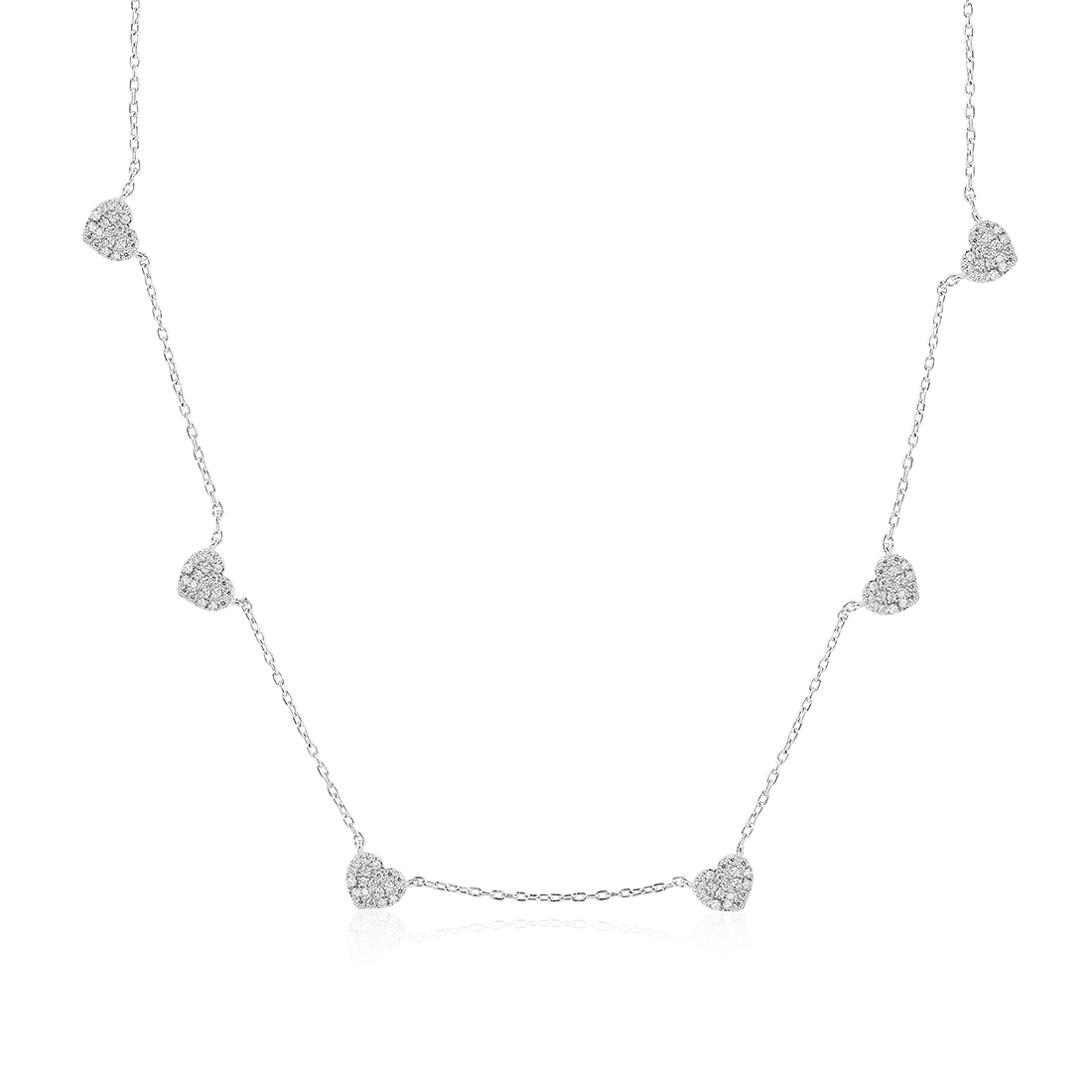 Forever Hearts Silver Necklace - High Street Jewelry