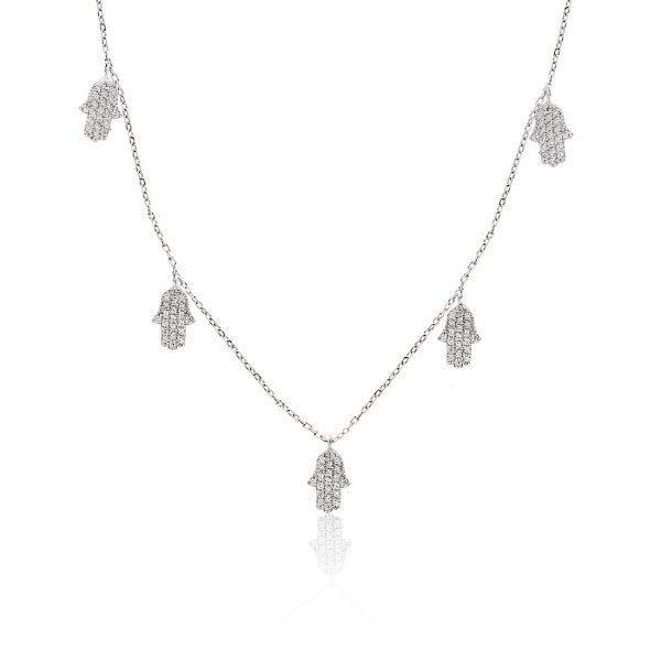 Hamsa Khailo Silver Necklace - High Street Jewelry