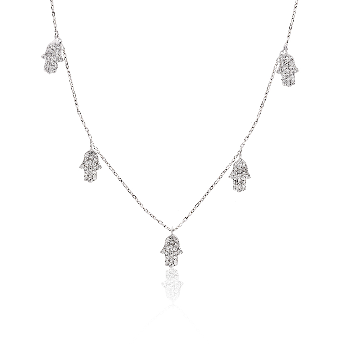 Hamsa Khailo Silver Necklace - High Street Jewelry
