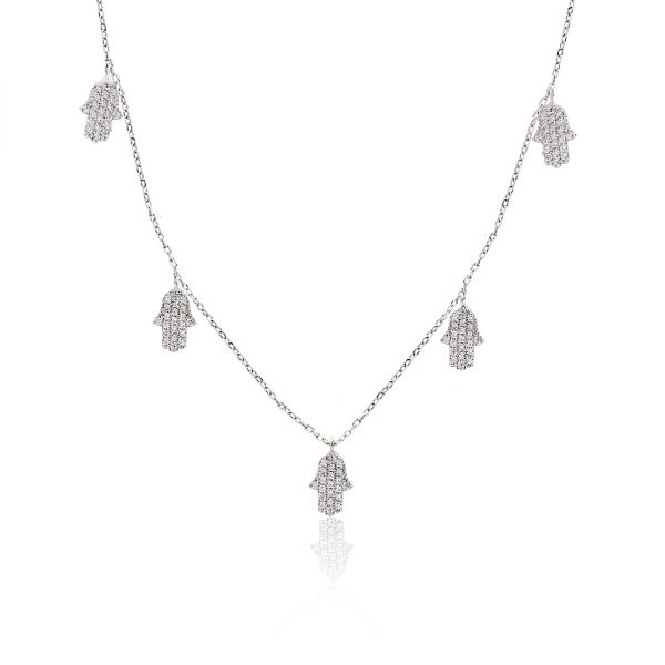 Waw Hand Khailo Silver Necklace - High Street Jewelry