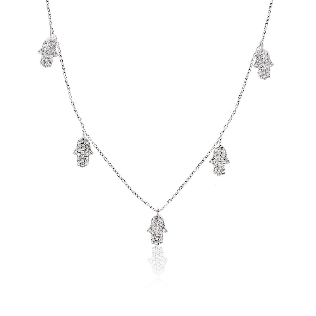 Waw Hand Khailo Silver Necklace - High Street Jewelry
