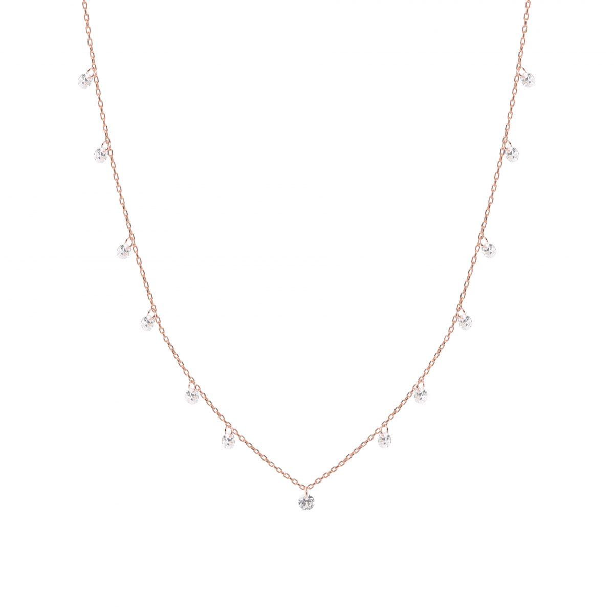 Twinkle Drop Rose Necklace - High Street Jewelry