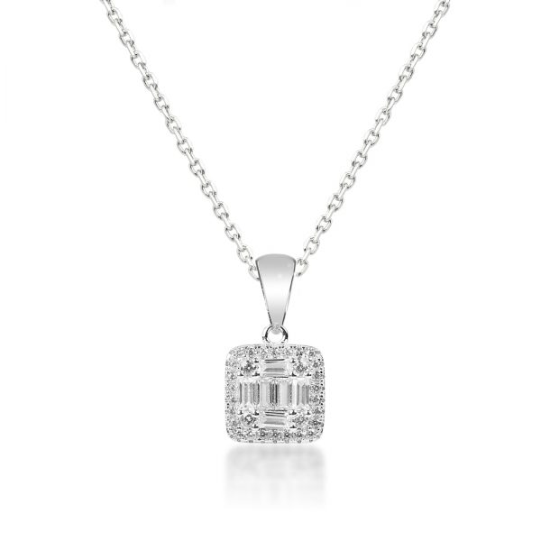 Absolute Square Silver Necklace - High Street Jewelry