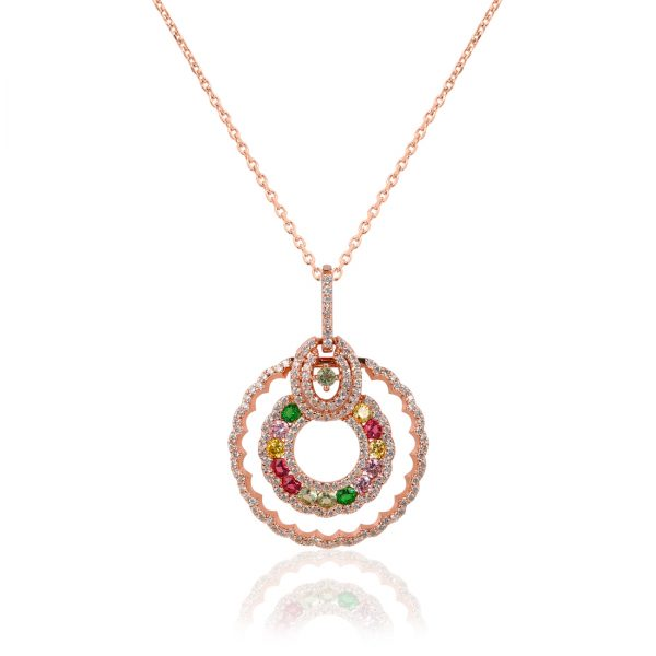 Sparkle Rose Necklace - High Street Jewelry