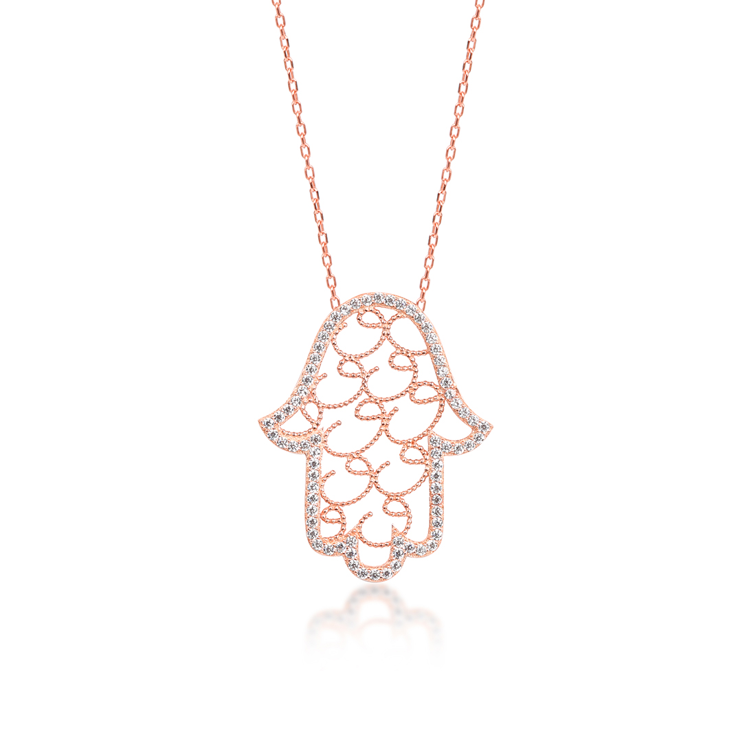 Waw Hand Khailo Rose Necklace - High Street Jewelry