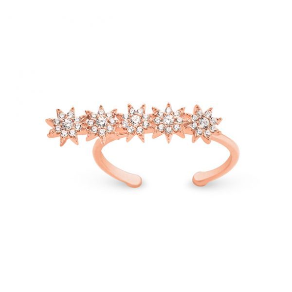 Linear Stars Rose Ring - High Street Jewelry