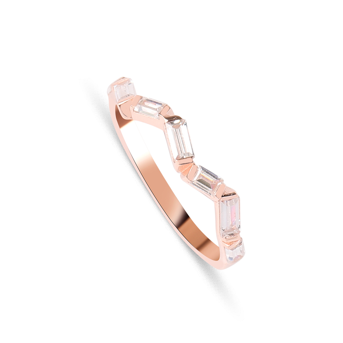 Zigzag Rose Ring - High Street Jewelry