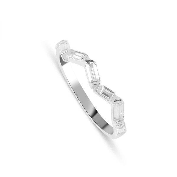 Zigzag Silver Ring - High Street Jewelry