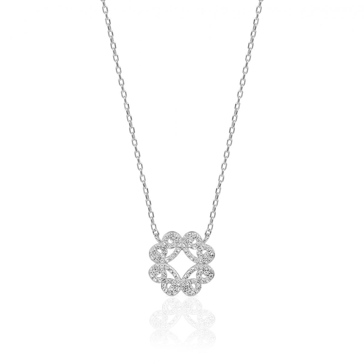 Naila Silver Necklace Blyte Silver Necklace - High Street Jewelry